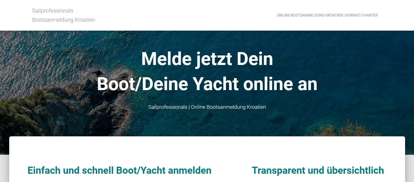 bootsanmeldung online kroatien vignette bootsvignette permit