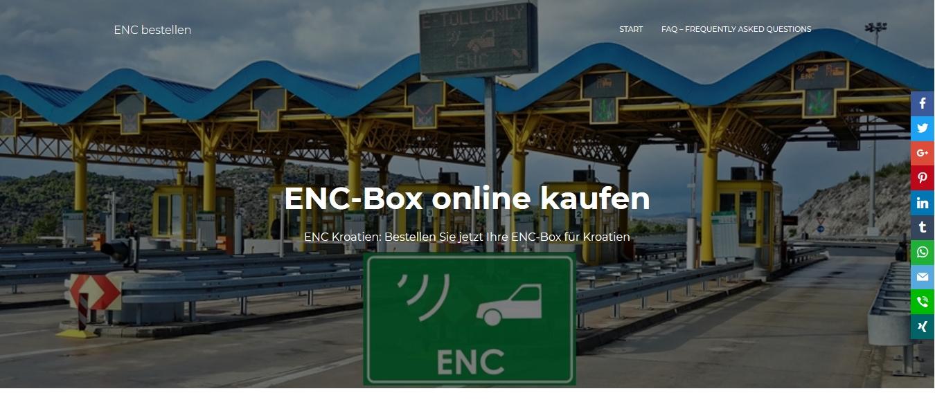 ENC Box online bestellen ENC Kroatien Maut Vignette