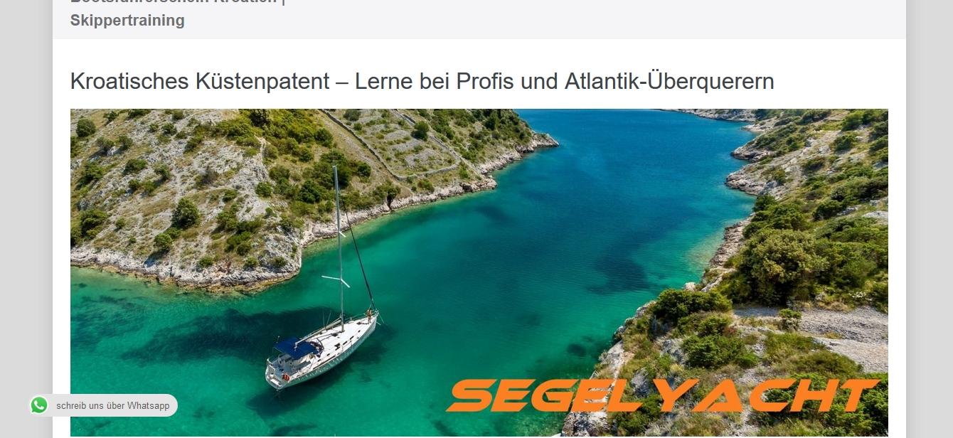 kroatisches küstenpatent bootsführerschein kroatien