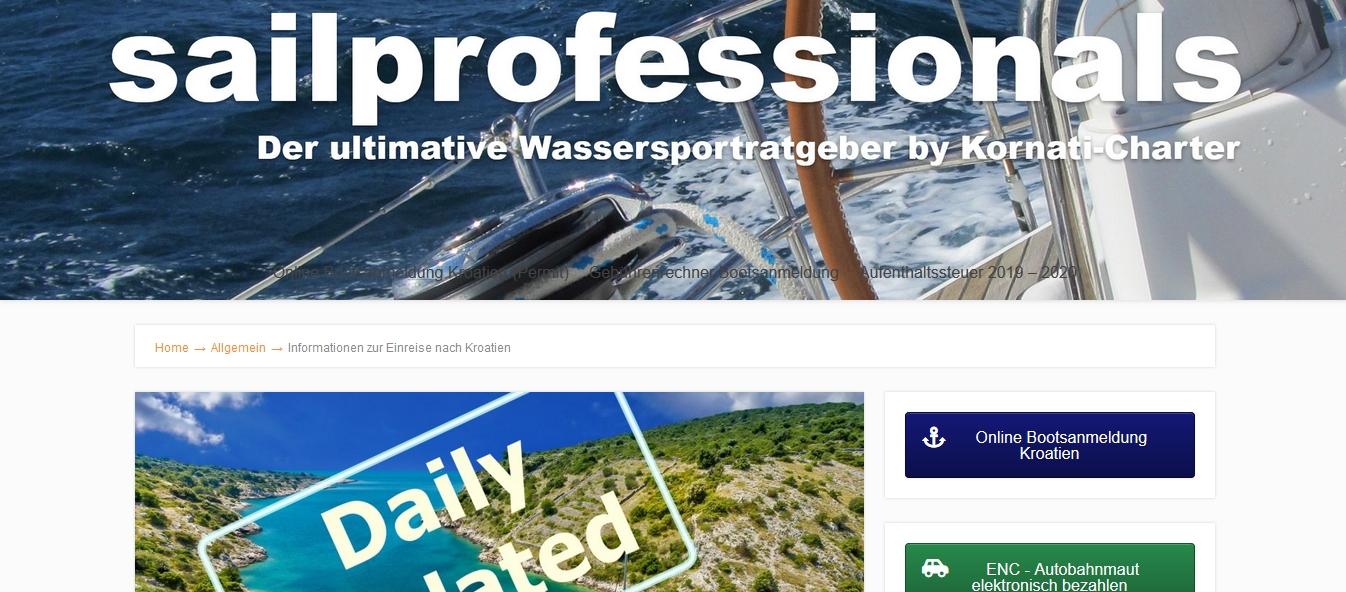 bootsanmeldung online kroatien vignette bootsvignette permit sailprofessionals segelblog
